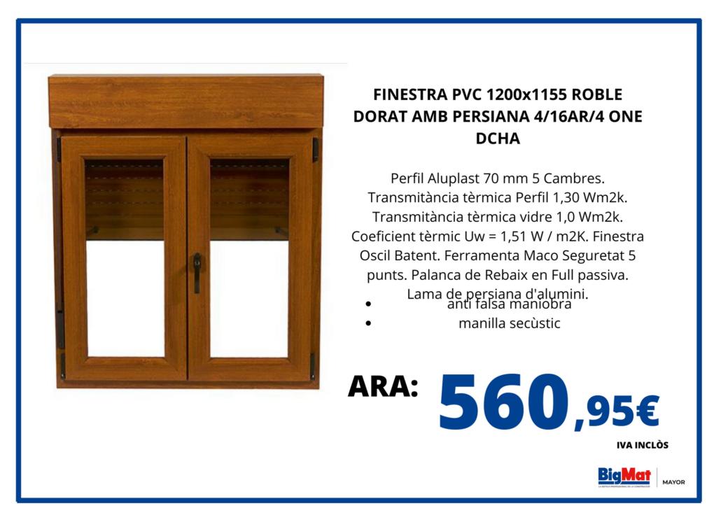 VENTANA CON PERSIANA ROBLE 60X60